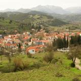 A view of the town & the neighbouring area of Kalavryta