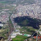 An aerial photo of a part of Serres town