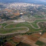 An aerial photo of a racetrack of Serres