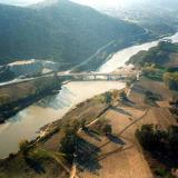 Aerial photo of Pinios river