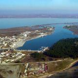 Aerial photo of Porto Lagos, Xanthi