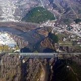 Aerial photo of Nestos bridge