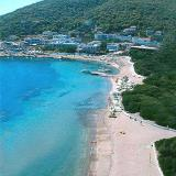 Agistri, the central beach of Skala