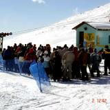 Kaimaktsalan, in a queue for the lifts