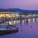 A night view of Lefkada capital town