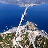 A panoramic view of Rio-Antirio bridge that is expected to change radically the geopolitical & economic landscape of the area