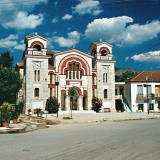 Klitoria, the church imposes at the central square of the village