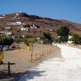 Agios Dimitrios settlement, a view of the sandy beach