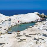Sarakiniko beach, it is formed by rocks