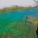 Sarakiniko beach, blue-green waters