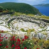 Ancient Theatre of Melos; a marble theatre of the Roman Era