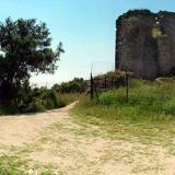 Castle of Anaktoroupolis, ruins of the byzantine castle which is near Nea Peramos