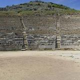 The ancient theatre is chronologically placed on Phillip the 2nd (4th c. b.C.) era