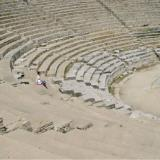 The ancient theatre - after the Roman colonisation changes were made based on proposed spectacles of the time