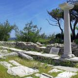 Alyki - a worship place in byzantine era, when the material of the ancient temple was used for building the basilicas