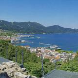 Limenas, a view of the capital town of Thassos from the hill where is the archaeological site