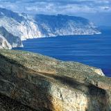 Amorgos - a breathtaking view of the oblong shape of the mountainous & barren island