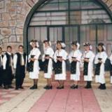 Agios Georgios, young people wearing 'Gidas' traditional costume