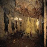 Alistrati - cavern, at the entrance one can see a spectacular chamber of 8m. height, that is the antechamber of the cavern