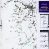Mountain bike map, routes to Taygetos
