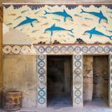 Dolphins fresco in the Palace of Knossos