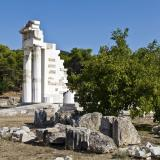 The restored propylon of the ceremonial banqueting hall at the Asklepieion of Epidaurus
