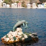 Dolphins statue at the Kastellorizo port
