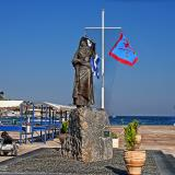 Statue of the 1821 war heroine Bouboulina in the port of Spetses.