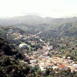 A view of the village of Spili from high above