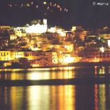 Andros town by night