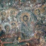 The Dormition of the Virgin fresco in Michael Archangelos Church, Monastiraki