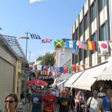 Street decorated with flags, XXVIII Olympiad Athens 2004