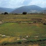 Archaeological Site of Ancient Mantineia - The little theater of Mantineia delimits the west side of the agora; its cavea was formed on a man-made fill