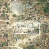 Delphi, aerial view of the archaeological site