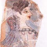 La Parisienne, a fresco from Knossos, Archaeological Museum of Heraklion