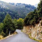 A country road leading to the mountains of Seta