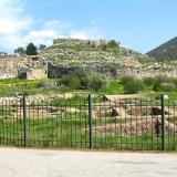 View of the archaeological site of the Mycenaean Acropolis