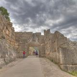 The Lion's gate at the Southern entrance of the Mycenaean Acropolis