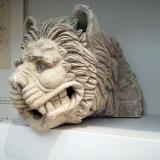 Marble waterspout in the shape of a lion's head