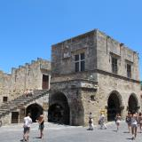 Rhodes Public Library is housed in the Castellania, an administration building in the Knights' era.