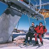 Falakro, lifts carry skiers to the slopes