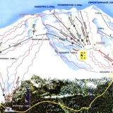 Gerontovrachos, a map of the ski centre